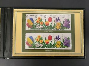 RARE ERROR 1993 Garden Flowers Error Stamps, Postal Commemorative Society