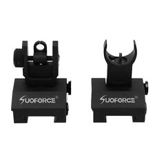 Low Profile Front and Rear Flip up Rapid Transtion A2 Picatinny Iron Sight Set