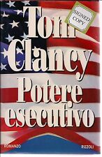 AUTOGRAPHED HAND SIGNED Potere esecutivo by Tom Clancy (Italian) COA FREE SHIP