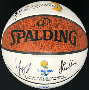PSA/DNA Warriors STEPHEN CURRY KLAY THOMPSON KERR Signed Autographed Basketball