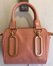 SEE BY CHLOE PINK SOFT DISTRESSED LEATHER MINI ZIP TOP MULTIWAY SATCHEL BAG BNWT