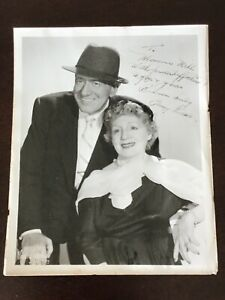 Benny Fields & Blossom Seeley Personalized Autographed Photo