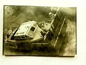WWII Transporting a Tenders To Shore Soldier Snapshot Photo