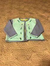Gymboree 12-18 Month Baby Girls/Toddler Blue Green Teal Flower Knit Cardigan