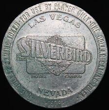 More details for 1979   las vegas, nevada silverbird hotel casino $1 token   tokens   km coins