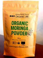 """Moringa Powder USDA Organic Certified Natural Pure Oleifera Leaf """"Free Shipping"""""""