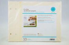 Martha Stewart Crafts 8x8in Archivist Pages 10 count Acid Free Pages Protector