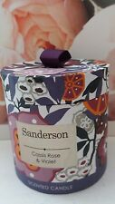 Heathcote & Ivory Sanderson Cassis Rose & Violet Candle