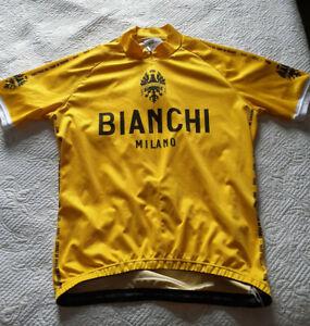 BIANCHI MILANO CYCLING JERSEY TOP Yellow Size XXL
