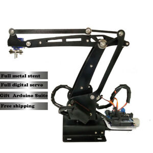 Robot Manipulator Metal Alloy Mechanical Arm Clamp Claw Kit Arduino