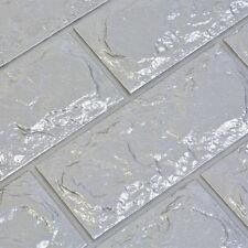 Simple 3D Foam Stone Brick Self-adhesive Wallpaper Home Wall Sticker Panels Pad
