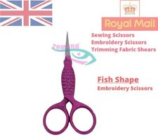 """Embroidery Scissors """"Fish in Pink"""" - Fish Embroidery Scissors - Fancy Embroidery"""