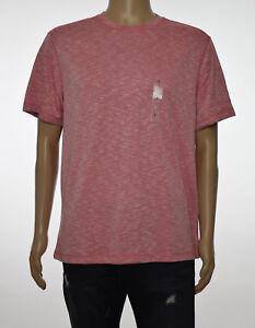 Tasso Elba Island Mens Space Dye Slate Rose Sun Protection UPF 40 T-Shirt L