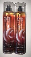 2 Bath & Body Works WARM VANILLA SUGAR Fine Fragrance Mist New! 8 oz