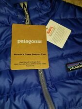 PATAGONIA NWT Womens S DOWN SWEATER VEST 84628 Harvest Moon Blue AUTHENTIC!