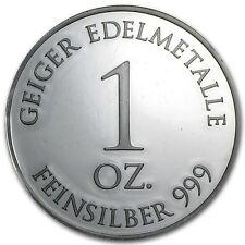 Medalla Plata 999/1000 1 Onza Schloss Geiger Güldengossa - 1 Oz silver