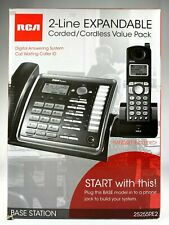 New in Box RCA 25255RE2 1.9 GHz 2 Lines Corded/Cordless Phone