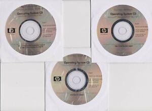 3 CD Lot HP XP Pro Professional 307108-001,SP1 308729-001,SP1a 341940-001