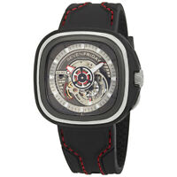 SevenFriday Men's S3-01 'S-Series' Black Silicone Watch