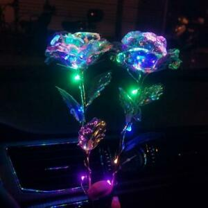LED Galaxy Rose Flower Gold Foil Rose Valentine's Day Gift Romantic Crystal Rose