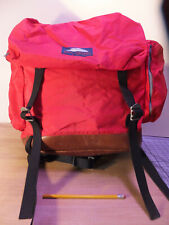 RARE Vintage JanSport red Leather  Backpack Daypack Hiking Camping