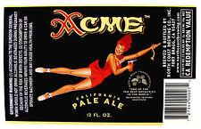 North Coast Brewing Co ACME CALIFORNIA PALE ALE beer label CA 12 oz