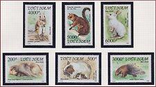 VIETNAM N°1318/1323** Animaux Rongeurs, 1992 Vietnam Rodents Animals MNH