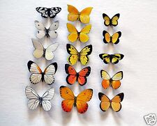 Butterfly Magnets Set of 15 Insects Refrigerator Magnets Gifts Kitchen Decor
