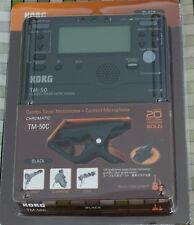 Korg Tm50 Sintonizador Y Negro Cm200 Piezo Clip Mic Tuning Gaita Drones Chanters