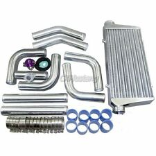 "3"" UNIVERSAL DIY INTERCOOLER KIT + ADAPTER + BOV For SUPRA 7MGTE SUBARU MUSTANG"