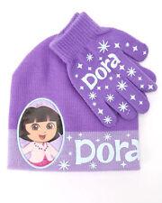 Hat & Glove Seta Dora The Explorer Hat and Glove Set Purple Nwt