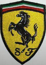 Toppa ricamata patch termoadesiva scudetto logo SCUDERIA FERRARI cm. 5 x 7,8