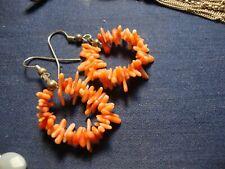 Angel Skin Branch Coral Earrings Grandmas Estate 925 Sterling Silver