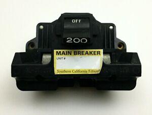 FPE FEDERAL PACIFIC 2B200 200 AMP MAIN BREAKER TYPE 2B