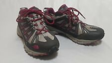 The North Face Storm TR Hiking Trail Shoes Womens Goretex Size 10 Pink And Gray