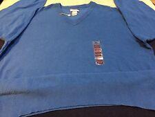 NEW ~ Iceberg Cotton/Nylon v-neck sweater ~ mens XL ~ Aqua Blue