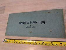 Charles Atlas Lesson 8 - Health and Strength. Original Piece. FREE UK POSTAGE.
