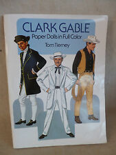 Clark Gable Paper Dolls Full Color Tom Tierney 1988 Dover Publ. New 16 plates