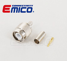 TNC MALE CRIMP FOR RG58, NICKEL (EM-TC001-RG58)