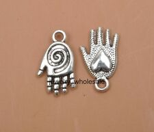 10pcs Tibetan Silver Charms heart hand pendant Accessories 20x12MM D3400