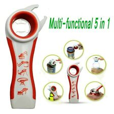Practical Kitchen Multi-Tool 5 in 1 Opener Bottle Soda Soup Can Jelly Jar Opener
