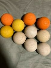 Lot of Ten (10) Used Lacrosse Balls - Various Brands