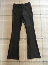 "ladies TOPSHOP BLACK PVC FAUX LEATHER FLARED BOTTOMS LEGGINGS UK SIZE 10 - 33""L"