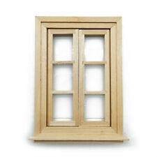 Dollhouse Furniture Wooden 6 Pane Window 1:12 Miniature DIY Accessories