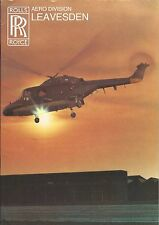 Brochure - Rolls-Royce - Aero Division Leavesden Helicopter Gas Turbine (B498)