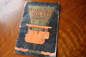 HOLT Caterpillar THIRTY Crawler Sales Brochure Manual 30 dozer tractor vintage