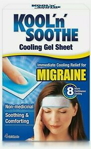 Kool 'n' Soothe Migraine Cooling Gel Sheets - 4 Strips