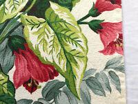 Vintage mid century barkcloth fabric floral drapery curtain panel vat print!