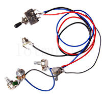 Electric Guitar Wiring Harness Kit 2V2T 3 Way Toggle Switch for Guitar Parts