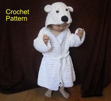 CROCHET PATTERN for Bathrobe -  Kid's Polar Bear Bathrobe by Peach.Unicorn
